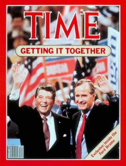 Time - Ronald Reagan & George Bush - July 28, 1980 - Ronald Reagan - George Bush - Pres