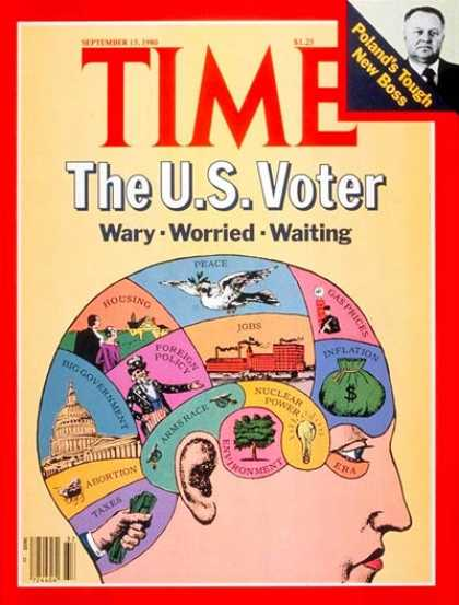 Time - The U.S. Voter - Sep. 15, 1980 - Presidential Elections - Society - Politics