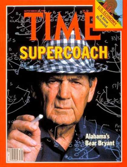Time - Bear Bryant - Sep. 29, 1980 - Football - Alabama - Sports