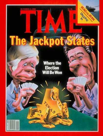 Time - Jackpot States - Oct. 13, 1980 - Politics