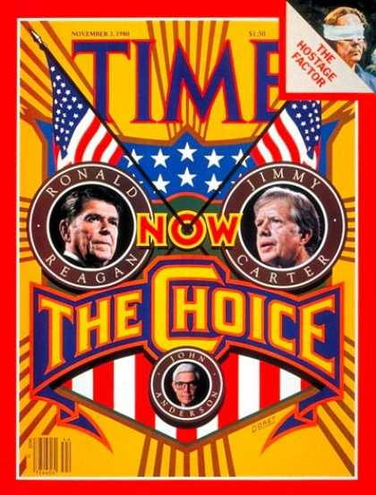 Time - Ronald Reagan vs. Jimmy Carter - Nov. 3, 1980 - Ronald Reagan - Jimmy Carter - U