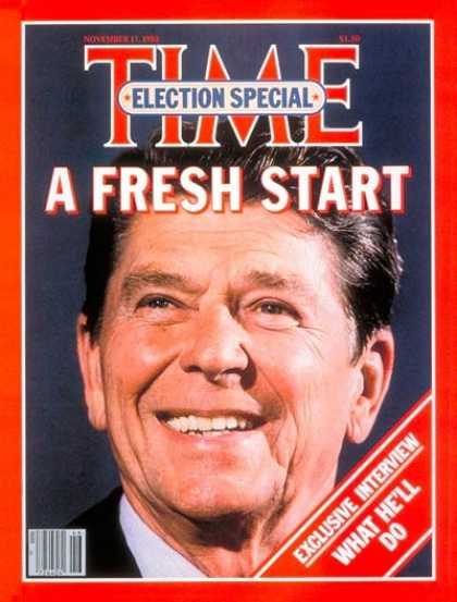 Time - President-Elect Ronald Reagan - Nov. 17, 1980 - Ronald Reagan - Presidential Ele