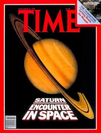 Time - Saturn - Nov. 24, 1980 - Astronomy - Space Exploration