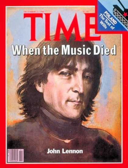 Time - John Lennon - Dec. 22, 1980 - The Beatles - Most Popular - Rock - Singers - Assa