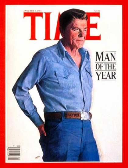 Time - Ronald Reagan, Man of the Year - Jan. 5, 1981 - Ronald Reagan - Person of the Ye