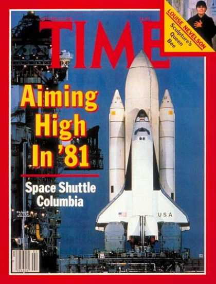 Time - Space Shuttle Columbia - Jan. 12, 1981 - NASA - Spacecraft - Space Exploration