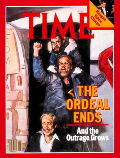 Time - Hostages Return - Feb. 2, 1981 - Iran - Terrorism - Hostages - Middle East