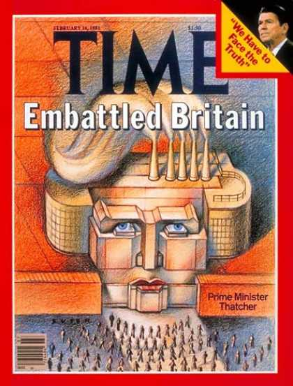 Time - Thatcher's Britain - Feb. 16, 1981 - Great Britain - Prime Ministers - Women