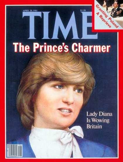 Time - Diana Spencer - Apr. 20, 1981 - Princess Diana - Great Britain - Royalty - Most