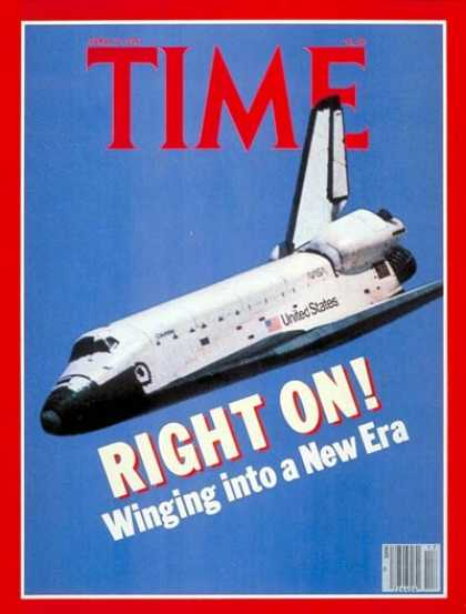 Time - Space Shuttle's First Flight - Apr. 27, 1981 - NASA - Spacecraft - Space Explora