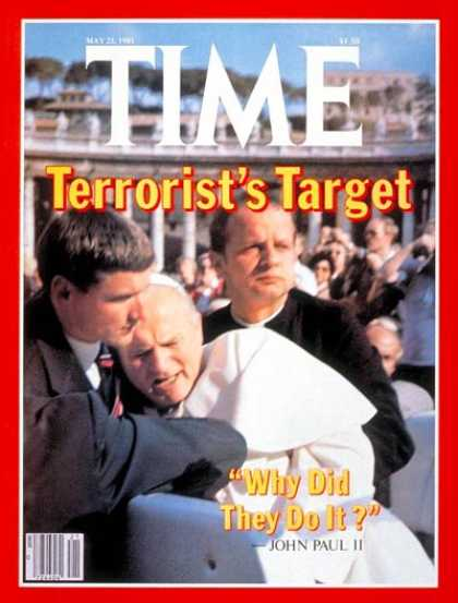 Time - Attack on the Pope - May 25, 1981 - Pope John Paul II - Religion - Christianity