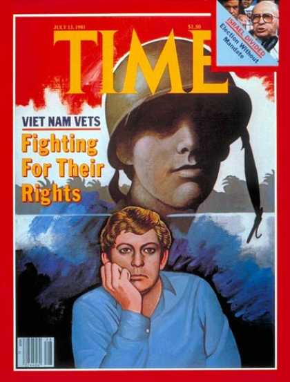 Time - Vietnam Vets - July 13, 1981 - Vietnam War - Military - Vietnam