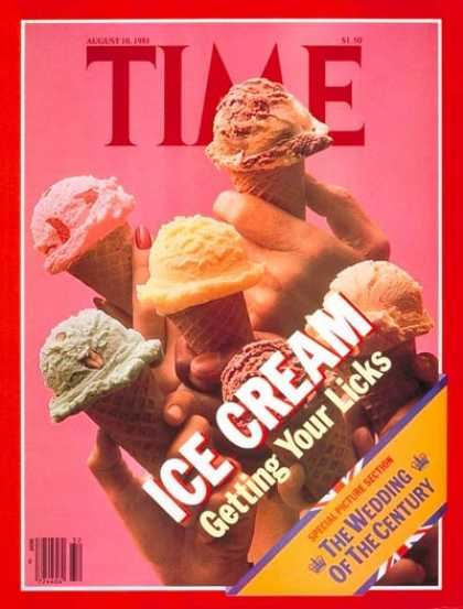 Time - Ice Cream - Aug. 10, 1981 - Food - Diets