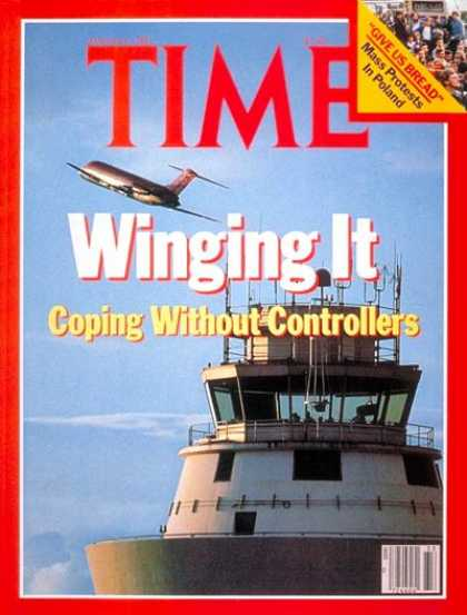 Time - Controller's Strike - Aug. 17, 1981 - Transportation - Aviation - Air Safety - A
