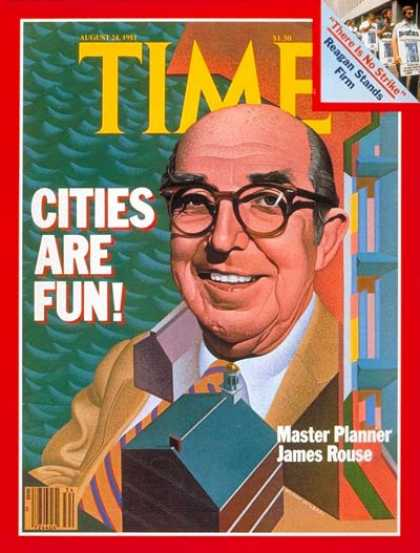 Time - James Rouse - Aug. 24, 1981 - Urban Planning - Society