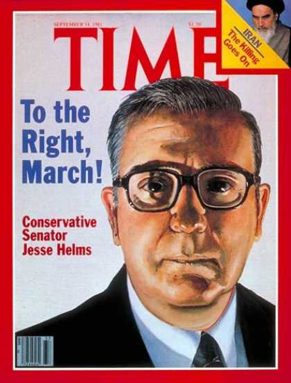 Time - Senator Jesse Helms - Sep. 14, 1981 - Congress - Senators - Politics