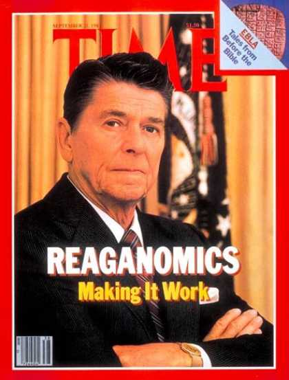 Time - Reaganomics - Sep. 21, 1981 - Ronald Reagan - U.S. Presidents - Economy - Politi
