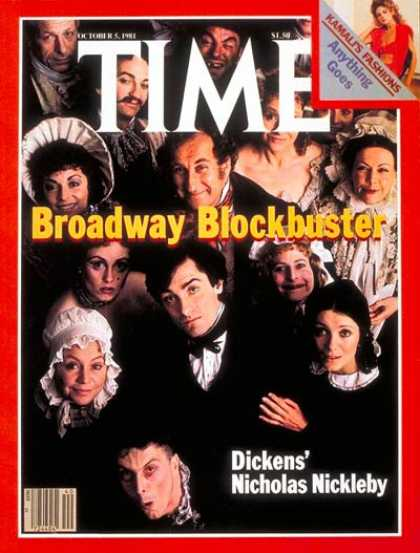 Time - Nicholas Nickelby - Oct. 5, 1981 - Theater