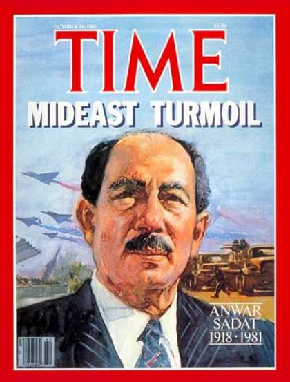 Time - Anwar Sadat - Oct. 19, 1981 - Egypt - Middle East