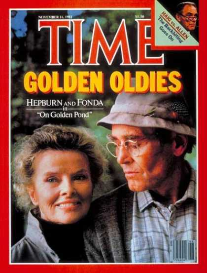 Time - Katharine Hepburn and Peter Fonda - Nov. 16, 1981 - Katharine Hepburn - Peter Fo
