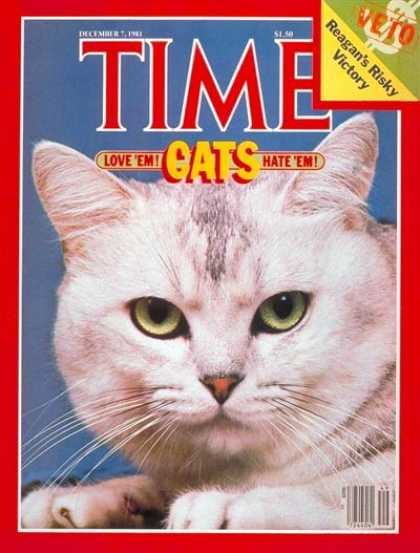 Time - Cats - Dec. 7, 1981 - Animals