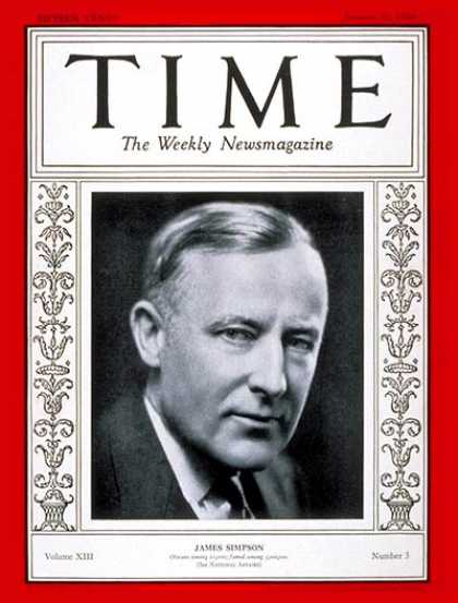 Time - James Simpson - Jan. 21, 1929 - Retailing - Chicago - Business