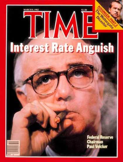 Time - Paul Volcker - Mar. 8, 1982 - Federal Reserve - Economy
