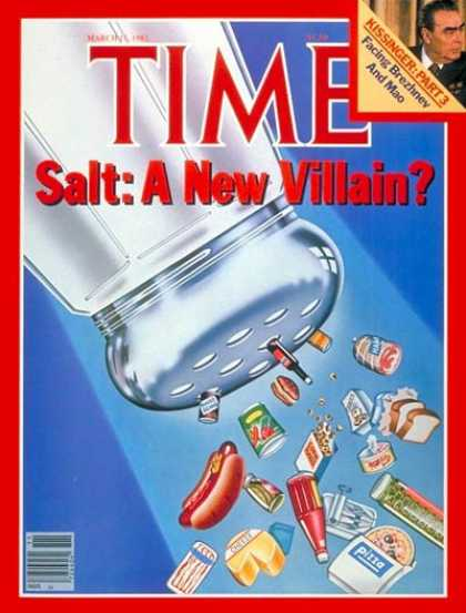 Time - Salt: A New Villain? - Mar. 15, 1982 - Food - Diets - Health & Medicine