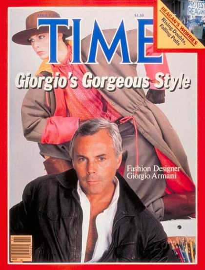 Time - Giorgio Armani - Apr. 5, 1982 - Fashion - Society - Style