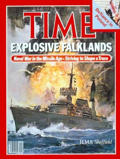 Time - H.M.S. Sheffield - May 17, 1982 - Falklands - Argentina - Great Britain