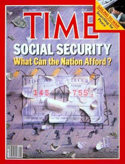 Time - Social Security - May 24, 1982 - Economy - Poverty