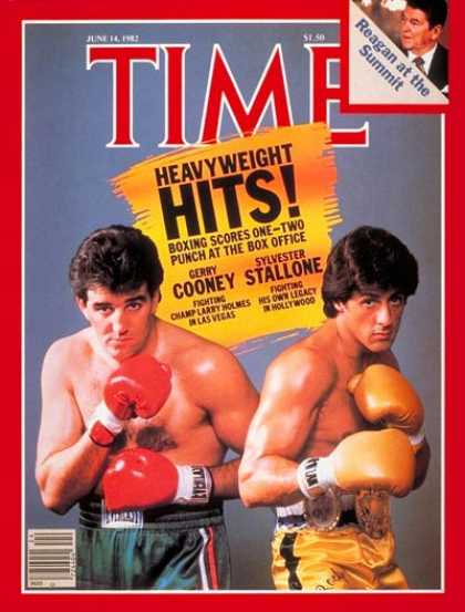 Time - Gerry Cooney, Sylvester Stallone - June 14, 1982 - Movies - Actors - Boxing