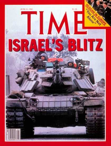 Time - Israel's Blitz - June 21, 1982 - Israel - Middle East