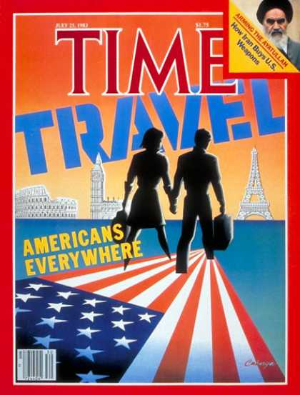 Time - Americans on the Move - July 25, 1983 - Travel - Society - American Flag