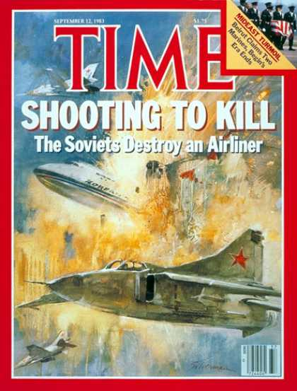 Time - Soviets Destroy Airliner - Sep. 12, 1983 - Russia - Communism