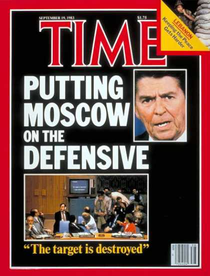 Time - Reagan and U.N. Quiz Moscow - Sep. 19, 1983 - U.S. Presidents - Russia - Communi
