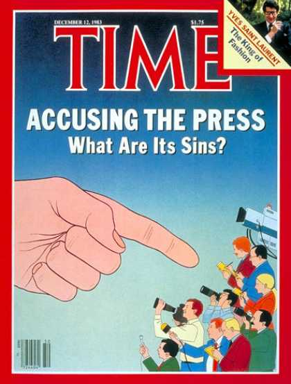 Time - The Press Under Fire - Dec. 12, 1983 - Journalism - Publishing - Broadcasting -