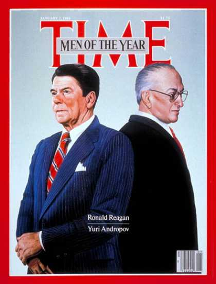 Time - Reagan, Andropov, Men of the Year - Jan. 2, 1984 - Person of the Year - U.S. Pre