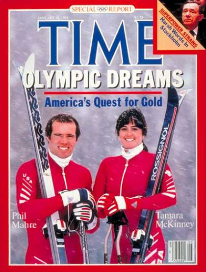 Time - Mahre and McKinney - Jan. 30, 1984 - Skating - Olympics - Sports
