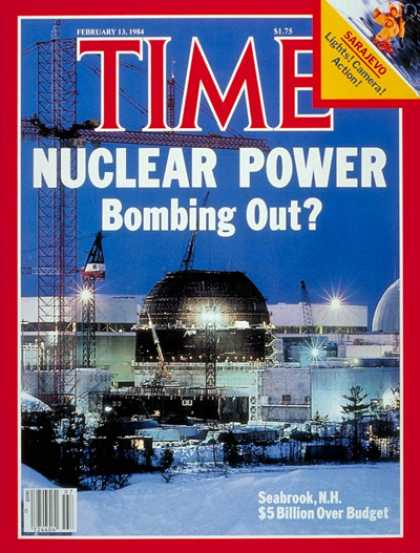 Time - Seabrook Nuclear Plant - Feb. 13, 1984 - Nuclear Power - Society - Environment