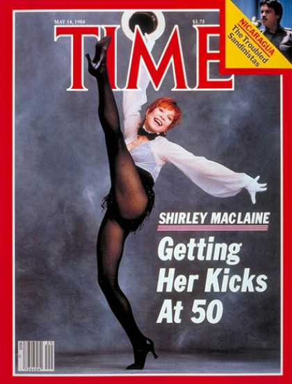 Time - Shirley MacLaine - May 14, 1984 - Actresses - Movies