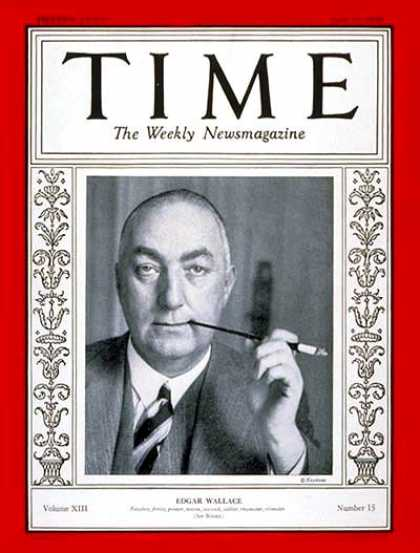Time - Edgar Wallace - Apr. 15, 1929 - Theater - Books