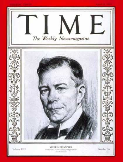 Time - Myron C. Taylor - Apr. 22, 1929 - Steel - Business