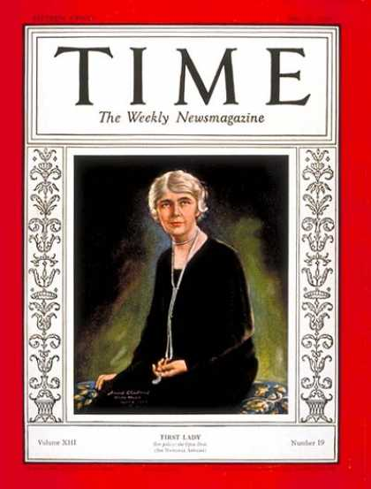 Time - Mrs. Herbert Hoover - May 13, 1929 - First Ladies