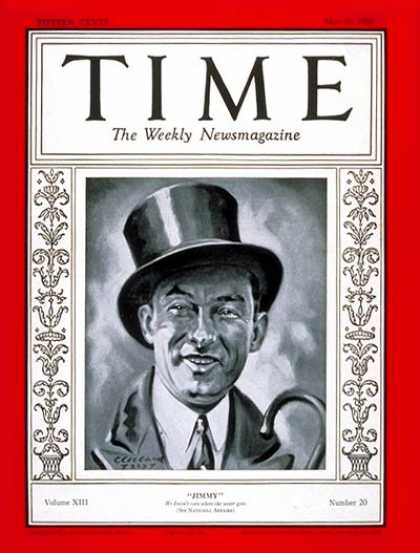 Time - James J. Walker - May 20, 1929 - Mayors - New York - Politics