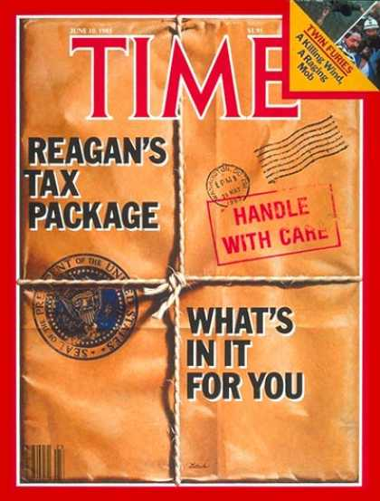 Time - Ronald Reagan's Tax Package - June 10, 1985 - Ronald Reagan - U.S. Presidents -