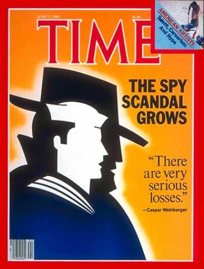 Time - Spy Scandal Grows - June 17, 1985 - Navy - Scandals - Espionage