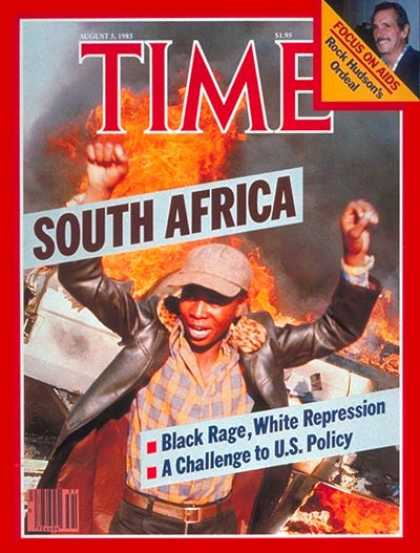 Time - South Africa - Aug. 5, 1985 - Apartheid - Africa