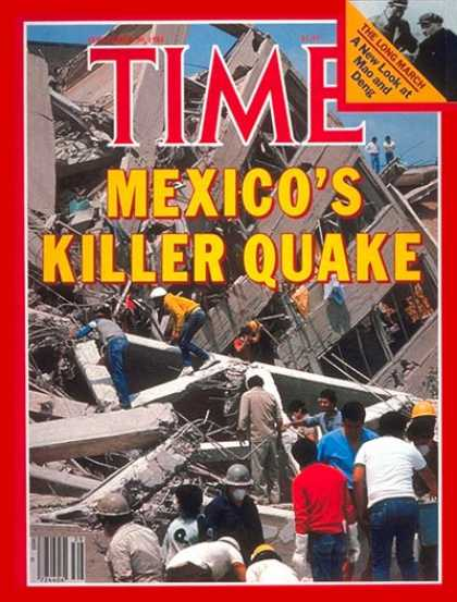 Time - Earthquake Shatters Mexico - Sep. 30, 1985 - Natural Disasters - Earthquakes - M