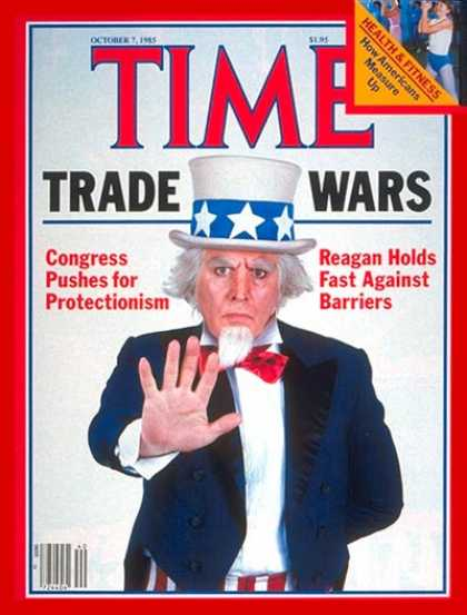 Time - Trade Wars: Congress vs. Ronald Reagan - Oct. 7, 1985 - Uncle Sam - Economy - Tr